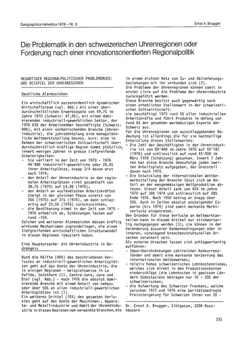Die Problematik in Den Schweizerischen U... by Brugger, E. A.