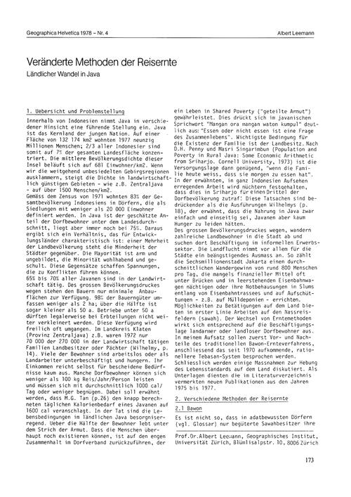 Veränderte Methoden Der Reisernte : Länd... by Leemann, A.