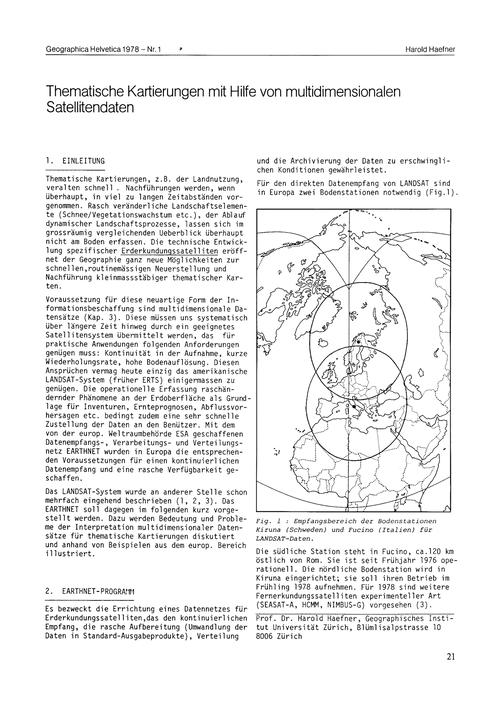Thematische Kartierungen Mit Hilfe Von M... by Haefner, H.