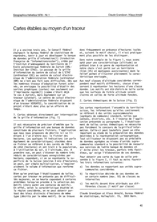 Cartes Établies Au Moyen D'Un Tracteur :... by Grandjean, C.