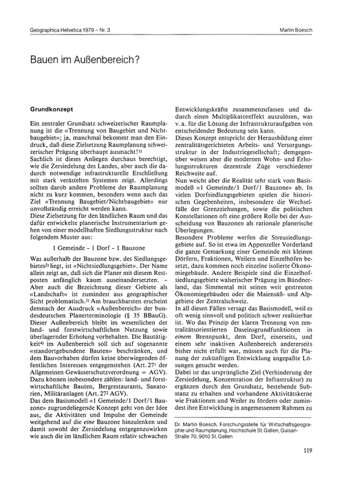 Bauen Im Aussenbereich? : Volume 34, Iss... by Boesch, M.