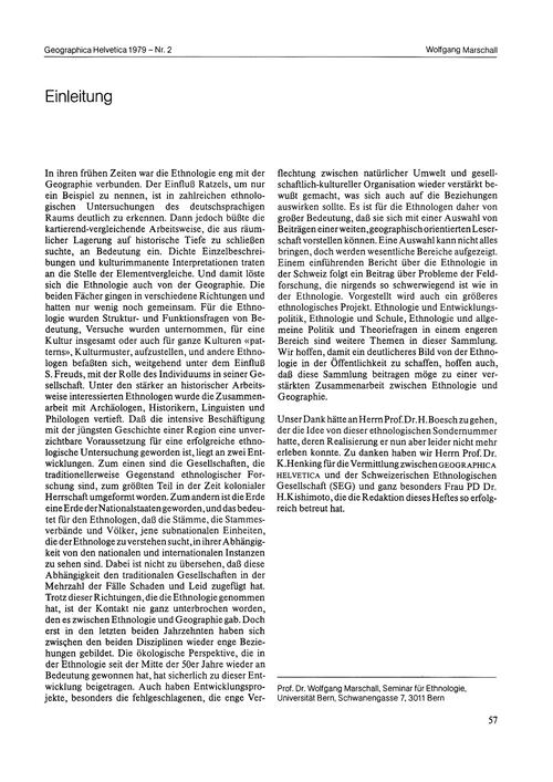 Einleitung : Volume 34, Issue 2 (30/11/-... by Marschall, W.