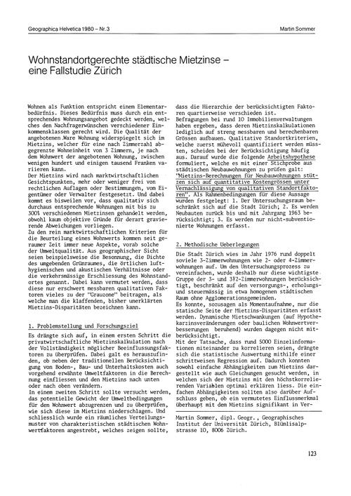Wohnstandortgerechte Städtische Mietzins... by Sommer, M.