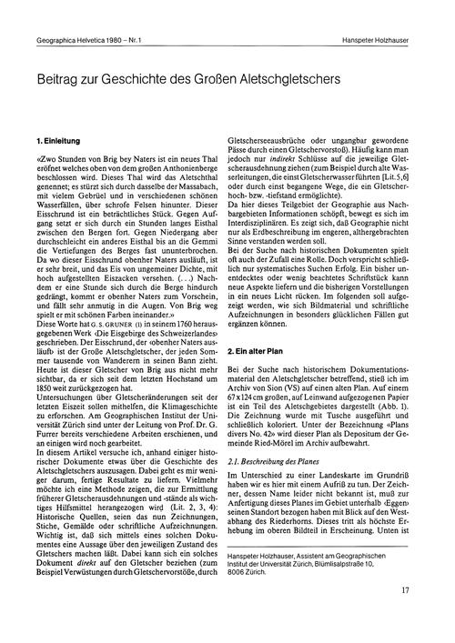 Beitrag Zur Geschichte Des Grossen Alets... by Holzhauser, H.