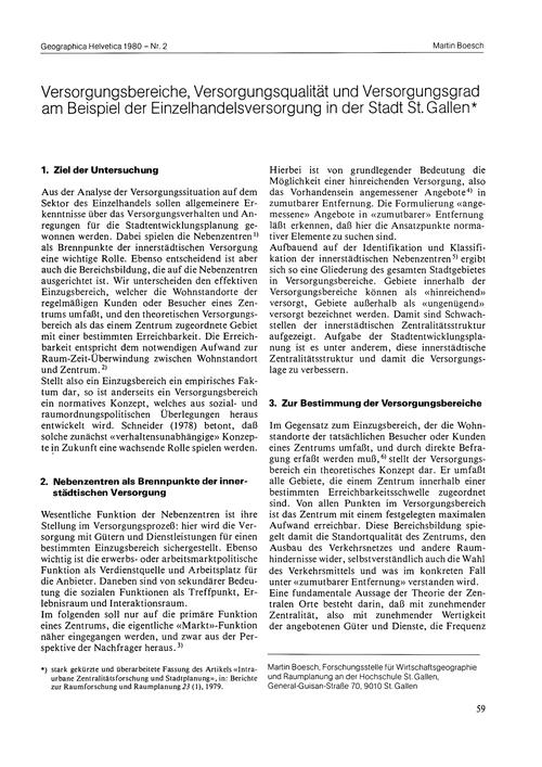 Vorsorgungsbereiche, Vorsorgungsqualität... by Boesch, M.