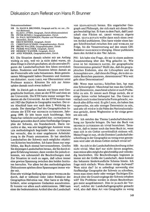 Diskussion Zum Referat Von Hans R. Brunn... by Brunner, H. R.