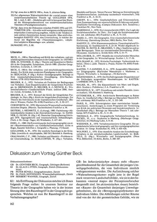 Diskussion Zum Vortrag Günther Beck : Vo... by Beck, G.
