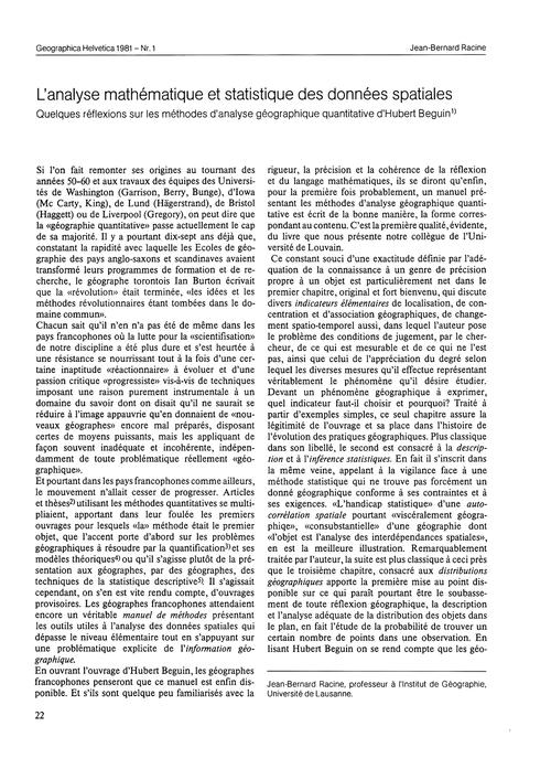 L'Analyse Mathématique Et Statistique De... by Racine, J.-b.