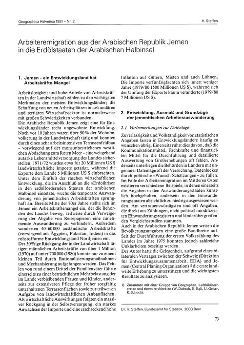 Arbeiteremigration Aus Der Arabischen Re... by Steffen, H.