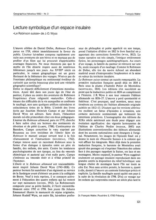 Lecture Symbolique D'Un Espace Insulaire... by Walter, F.