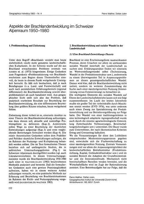 Aspekte Der Brachlandentwicklung Im Schw... by Walther, P.