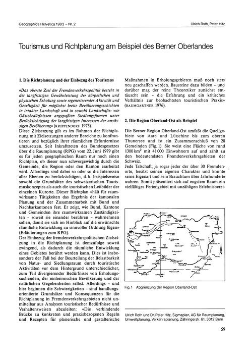 Tourismus Und Richtplanung Am Beispiel D... by Roth, U.