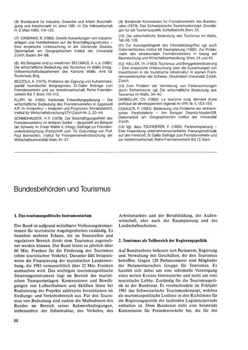 Bundesbehörden Und Tourismus : Volume 38... by Keller, P.