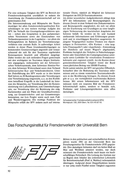 Das Forschungsinstitut Für Fremdenverkeh... by