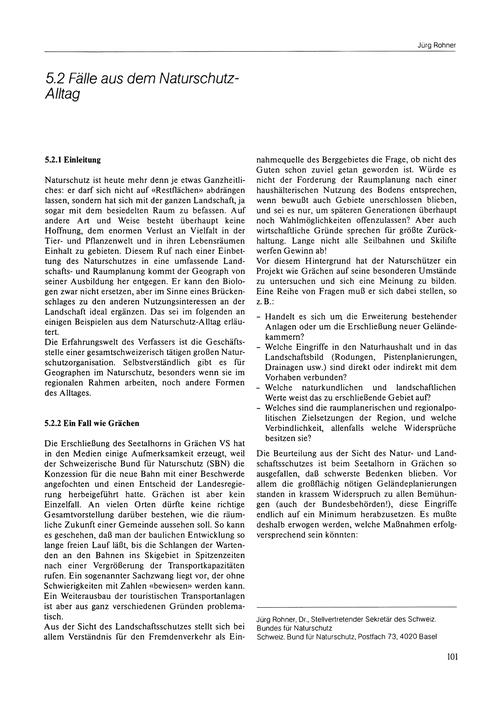 5.2 Fälle Aus Dem Naturschutz-alltag : V... by Rohner, J.