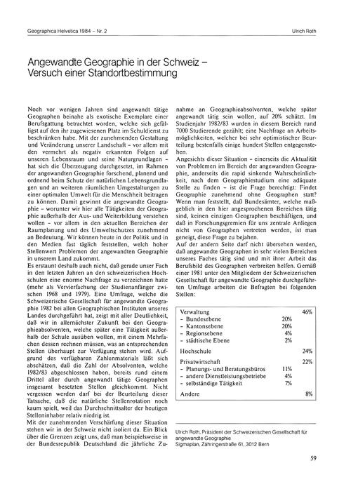 Angewandte Geographie in Der Schweiz : V... by Roth, U.