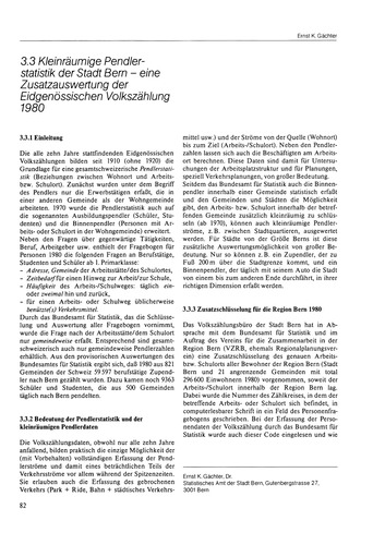 3.3 Kleinräumige Pendlerstatistik Der St... by Gächter, E. K.