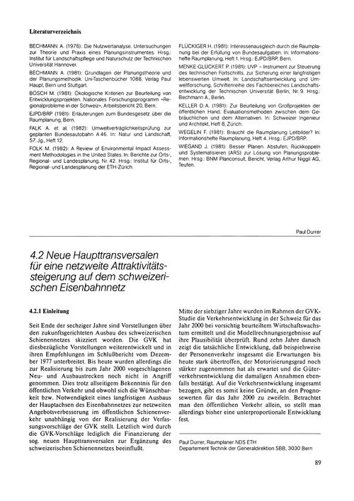 Neue Haupttransversalen Für Eine Netzwei... by Durrer, P.