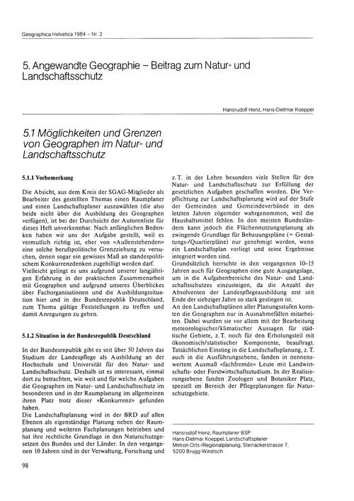 5.1 Möglichkeiten Und Grenzen Von Geogra... by Henz, H.