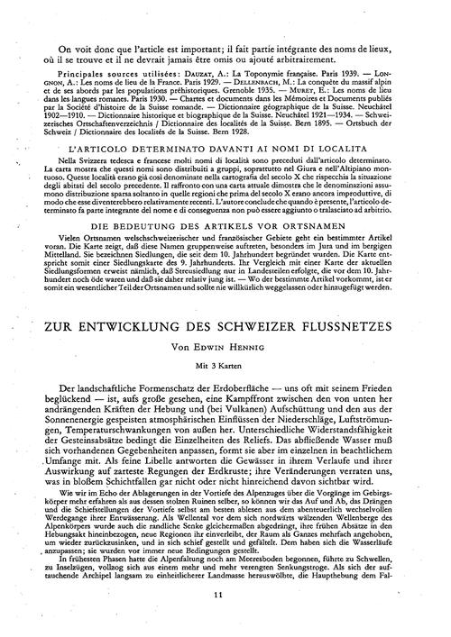 Zur Entwicklung Des Schweizer Flussnetze... by Hennig, E.