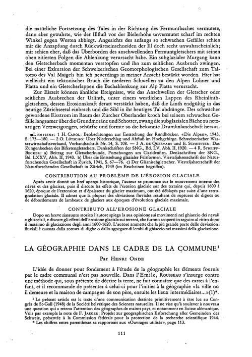 La Géographie Dans Le Cadre De La Commun... by Onde, H.