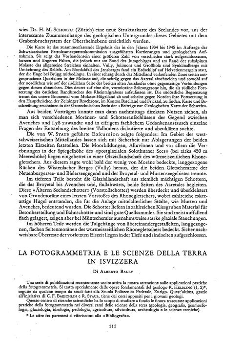La Fotogrammetria E Le Scienze Della Ter... by Bally, A.