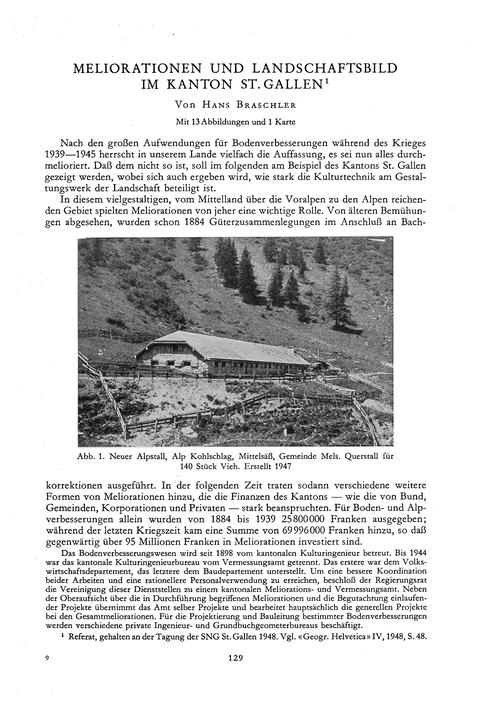 Meliorationen Und Landschaftsbild Im Kan... by Braschler, H.