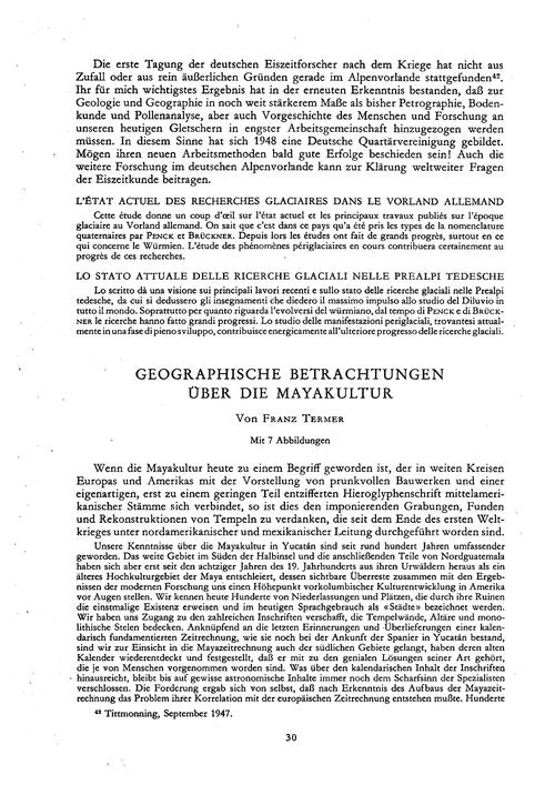 Geographische Betrachtungen Über Die May... by Termer, F.
