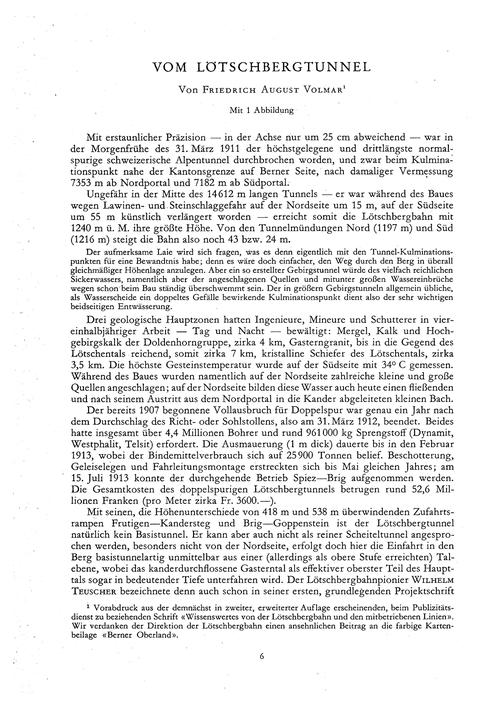 Vom Lötschbergtunnel : Volume 4, Issue 1... by Volmar, F. A.