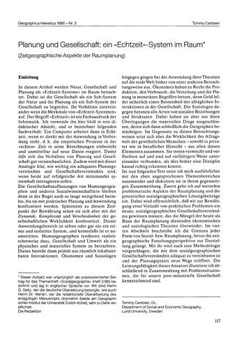 Planung Und Gesellschaft : Ein Echtzeit-... by Carlstein, T.
