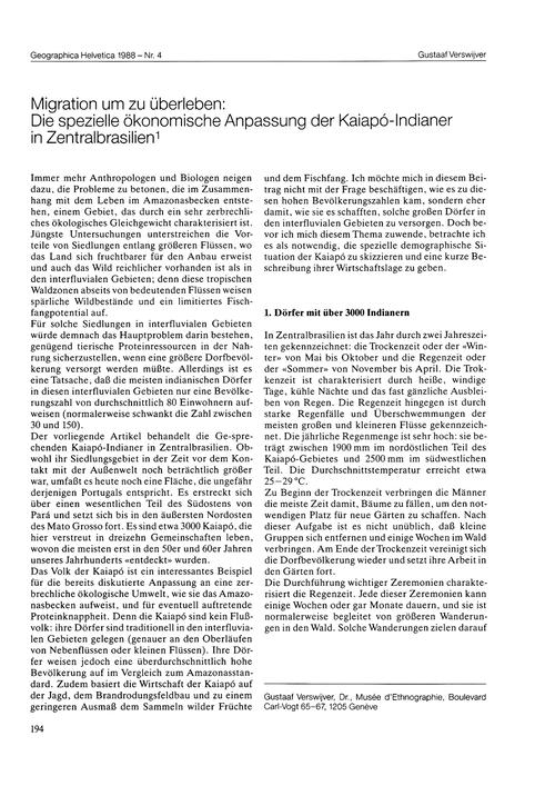 Migration Um Zu Überleben : Die Speziell... by Verswijver, G.
