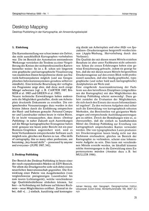 Desktop Mapping : Desktop Publishing in ... by Herzog, A.