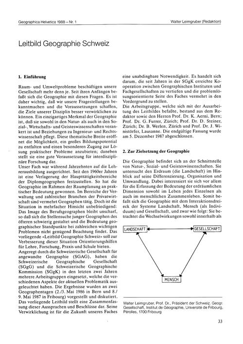 Leitbild Geographie Schweiz : Volume 43,... by Leimgruber, W.