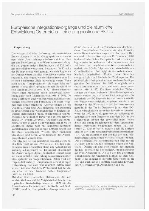 Europäische Integrationsvorgänge Und Die... by Stiglbauer, K.