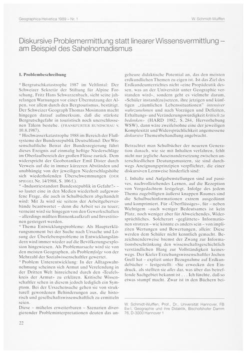 Diskursive Problemermittlung Statt Linea... by Schmidt-wulffen, W.