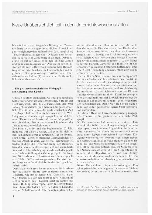 Neue Unübersichtlichkeit in Den Unterric... by Forneck, H. J.