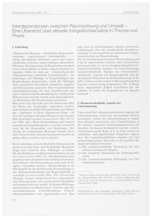 Interdependenzen Zwischen Raumordnung Un... by Wachter, D.