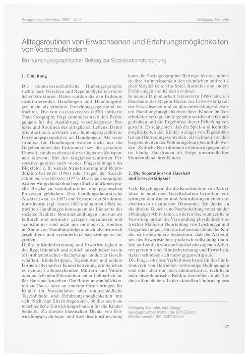 Alltagsroutinen Von Erwachsenen Und Erfa... by Zierhofer, W.