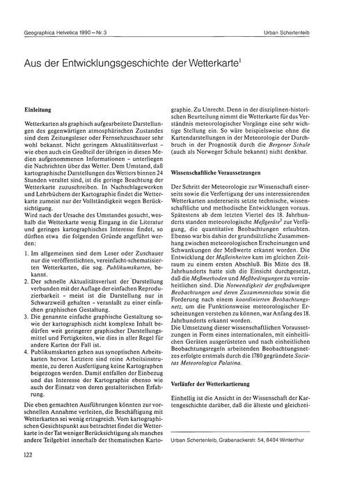 Aus Der Entwicklungsgeschichte Der Wette... by Schertenleib, U.