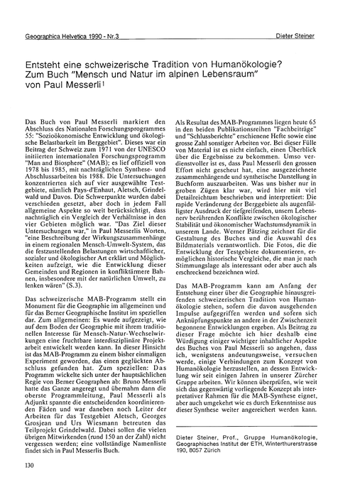 Entsteht Eine Schweizerische Tradition V... by Steiner, D.