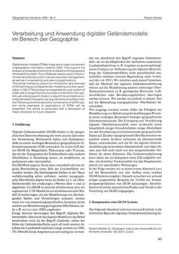 Verarbeitung Und Anwendung Digitaler Gel... by Weibel, R.