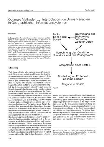 Optimale Methoden Zur Interpolation Von ... by Burrough, P. A.