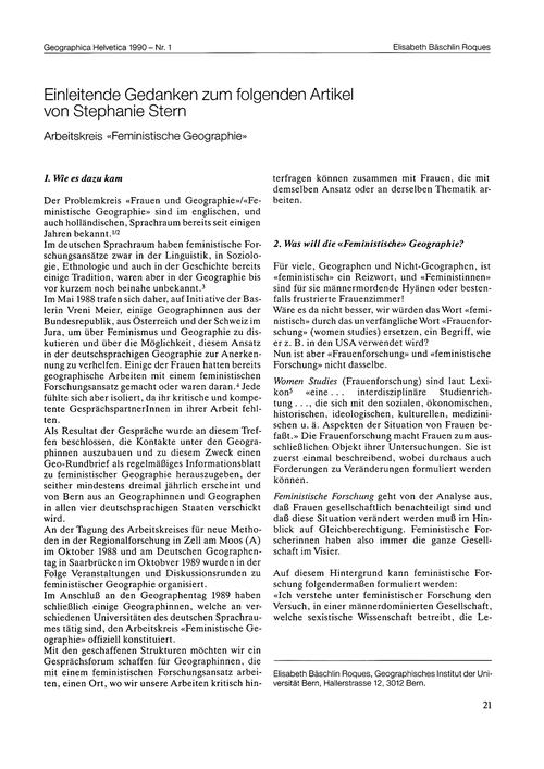 Einleitende Gedanken Zum Folgenden Artik... by Bäschlin Roques, E.