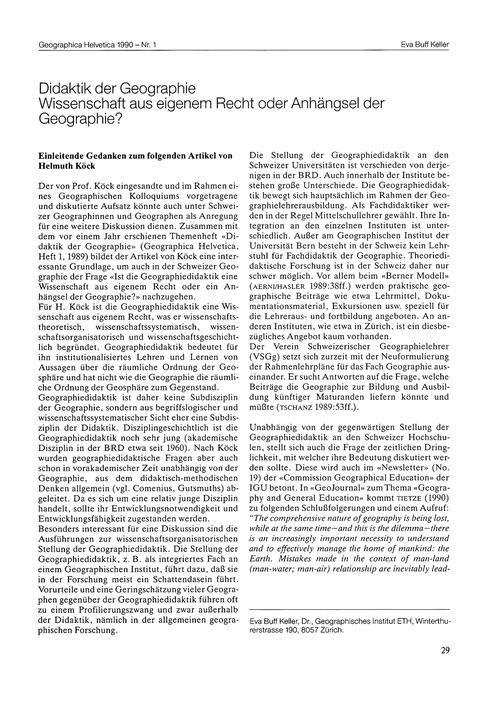 Didaktik Der Geographie : Wissenschaft A... by Buff Keller, E.