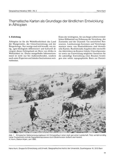 Thematische Karten Als Grundlage Der Län... by Hurni, H.