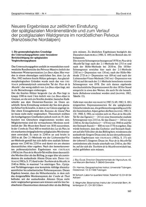 Neuere Ergebnisse Zur Zeitlichen Einstuf... by Biju-duval, J.