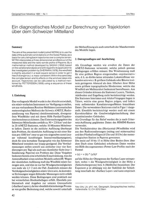 Ein Diagnostisches Modell Zur Berechnung... by Neu, U.