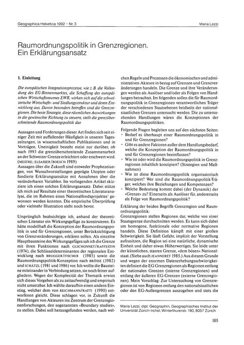 Raumordnungspolitik in Grenzregionen : E... by Lezzi, M.