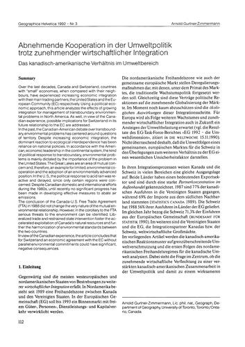 Abnehmende Kooperation in Der Umweltpoli... by Gurtner-zimmermann, A.