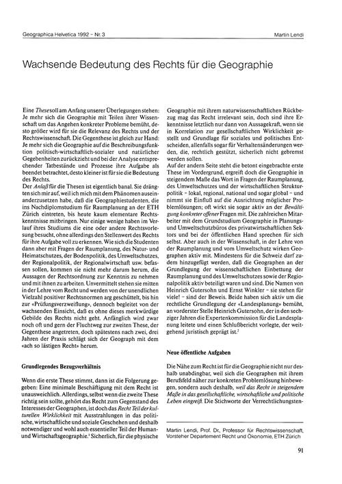 Wachsende Bedeutung Des Rechts Für Die G... by Lendi, M.